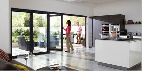 Bifold doors on extension Bifold doors on kitchen extension & About Us | Folding Doors Direct Ireland